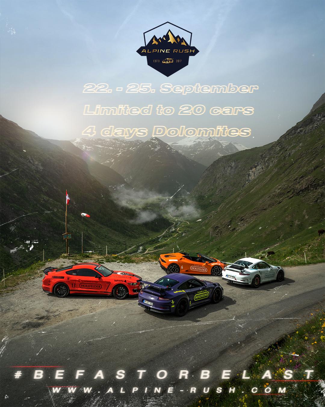Alpine Rush - Die Sportwagentour mit exklusiven Fahrzeugen durch die Alpen